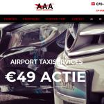 Website van AAA Airport Taxiservices