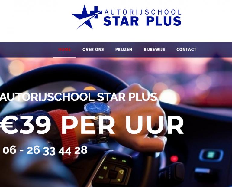 Website van Autorijschool Star Plus