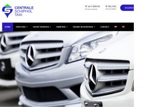 Website van Centrale Schiphol Taxicentrale