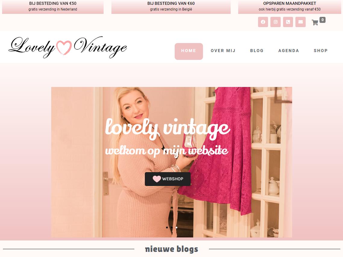 Webshop gemaakt voor Lovely Vintage