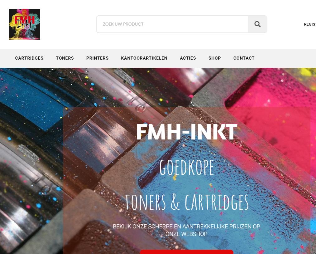 Webshop gemaakt voor FMH inkt