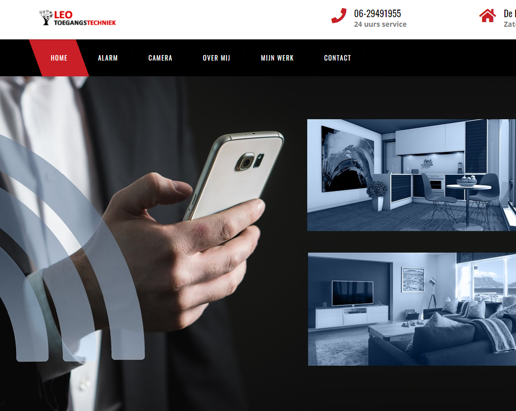 Website gemaakt voor Leo Toegangstechniek